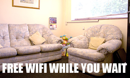 Free Wifi while you wait